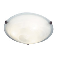 Kenroy Lighting Aero 3 Light Flush Mount in Weathered Brick   90671WB