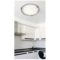 Kenroy Lighting 90672BNI Aero 2 Light 13 inch Brushed Nickel Flush Mount Ceiling Light alternative photo thumbnail