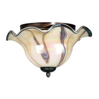 Inverness 2 Light 16 inch Tuscan Silver Flush Mount Ceiling Light