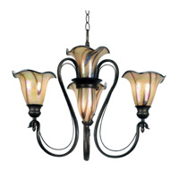 Kenroy Lighting Inverness 3 Light Chandelier in Tuscan Silver   90895TS