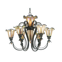 Kenroy Lighting 90896TS Inverness 9 Light 31 inch Tuscan Silver Chandelier Ceiling Light photo thumbnail