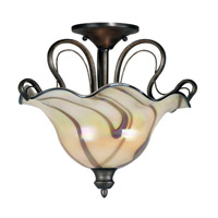 Kenroy Lighting Inverness 2 Light Semi-Flush in Tuscan Silver   90898TS