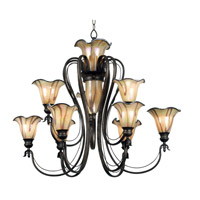 Kenroy Lighting Inverness 9 Light Chandelier in Tuscan Silver   90899TS