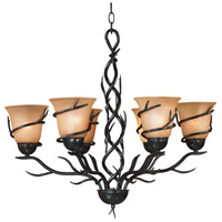 Kenroy Lighting 90900BRZ Twigs 6 Light 28 inch Bronze Chandelier Ceiling Light photo thumbnail