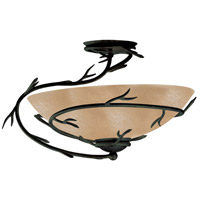 Twigs 1 Light 20 inch Bronze Semi-Flush Ceiling Light