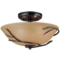 Twigs 2 Light 12 inch Bronze Flush Mount Ceiling Light