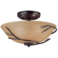 Twigs 3 Light 16 inch Bronze Flush Mount Ceiling Light