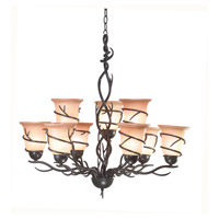 Kenroy Lighting Twigs 9 Light Chandelier in Bronze   90909BRZ