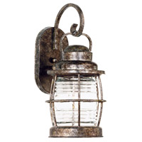 Beacon 1 Light 7 inch Flint Wall Lantern Wall Light