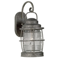 Beacon 1 Light 8 inch Flint Wall Lantern Wall Light