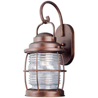 Beacon 1 Light 18 inch Gilded Copper Wall Lantern