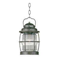 Kenroy Lighting Beacon 1 Light Outdoor Hanging Lantern in Flint   90955FL
