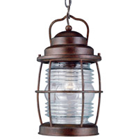 Beacon 1 Light 8 inch Gilded Copper Hanging Lantern Ceiling Light