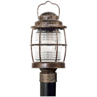 Beacon 1 Light 18 inch Flint Post Lantern