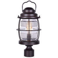 Beacon 1 Light 18 inch Gilded Copper Post Lantern