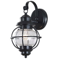 Kenroy Lighting Hatteras 1 Light Outdoor Wall Lantern in Black   90961BL