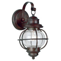 Hatteras 1 Light 7 inch Gilded Copper Wall Lantern Wall Light