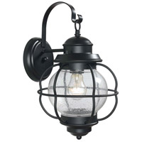 Kenroy Lighting Hatteras 1 Light Outdoor Wall Lantern in Black   90962BL