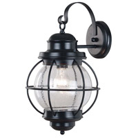 Kenroy Lighting Hatteras 1 Light Outdoor Wall Lantern in Black   90963BL