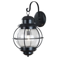 Kenroy Lighting Hatteras 1 Light Outdoor Wall Lantern in Black   90964BL