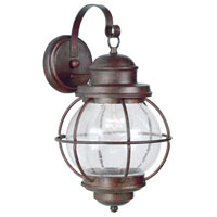 Kenroy Lighting Hatteras 1 Light Outdoor Wall Lantern in Gilded Copper   90964GC photo thumbnail