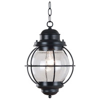Kenroy Lighting Hatteras 1 Light Outdoor Hanging Lantern in Black   90965BL