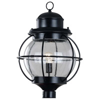Kenroy Lighting Hatteras 1 Light Outdoor Post Lantern in Black   90967BL