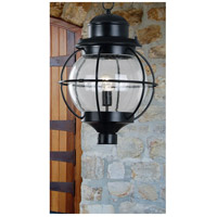 Kenroy Lighting 90967BL Hatteras 1 Light 24 inch Black Post Lantern alternative photo thumbnail