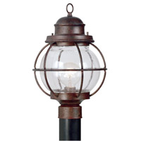 Kenroy Lighting Hatteras 1 Light Outdoor Post Lantern in Gilded Copper   90967GC