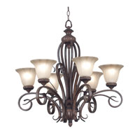 Kenroy Lighting Rochester 6 Light Chandelier in Aruba Teak   91036AT photo thumbnail