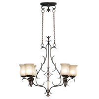 Kenroy Lighting Bouquet Autumn Leaf Finish Island Lighting 91276ALF