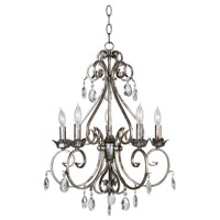 Antoinette 5 Light 20 inch Weathered Silver Chandelier Ceiling Light