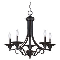 Kenroy Lighting Hamilton 5 Light Chandelier in Bronze   91385BRZ