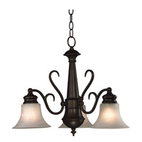 Kenroy Lighting Wynwood 3 Light Chandelier in Burnished Bronze   91399BBZ