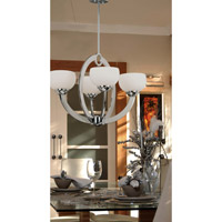 Kenroy Lighting Nova 4 Light Chandelier in Chrome   91557CH