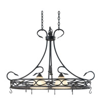 Countryside 2 Light 40 inch Royal Bronze Pot Rack Ceiling Light