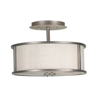 Whistler 2 Light 14 inch Bronze Gilt Semi-Flush Ceiling Light