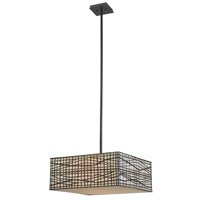 Fortress 3 Light 20 inch Bronze Pendant Ceiling Light