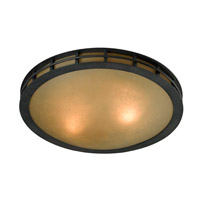 Kenroy Lighting Pane 3 Light Flush Mount in Forged Graphite 91595FGRPH