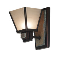 Kenroy Lighting 91601ORB Clean Slate 1 Light 6 inch Oil Rubbed Bronze/Natural Slate Sconce Wall Light