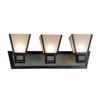 Clean Slate 3 Light 24 inch Oil Rubbed Bronze/Natural Slate Vanity Wall Light