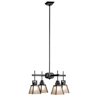 Clean Slate 4 Light 27 inch Oil Rubbed Bronze  with Natural Slate Chandelier Ceiling Light