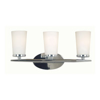Kenroy Lighting Aerial 3 Light Vanity in Polished Nickel   91683PN