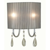 Arpeggio 2 Light 9 inch Chrome Sconce Wall Light