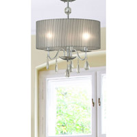 Arpeggio 3 Light 16 inch Chrome Pendant Ceiling Light