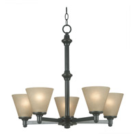 Kenroy Lighting 91755BP Tallow 5 Light 26 inch Bronze Patina Chandelier Ceiling Light photo thumbnail