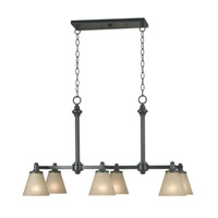 Kenroy Lighting Tallow 6 Light Island in Bronze Patina   91756BP