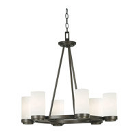 Toronto 6 Light 26 inch Satin Bronze Chandelier Ceiling Light