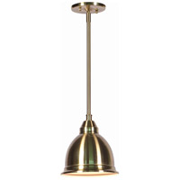 Kenroy Lighting Carson 1 Light Mini Pendant in Polished Brass 91782PB