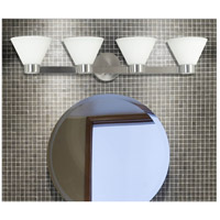 Kenroy Lighting 91794BS Maxwell 4 Light 34 inch Brushed Steel Vanity Wall Light alternative photo thumbnail